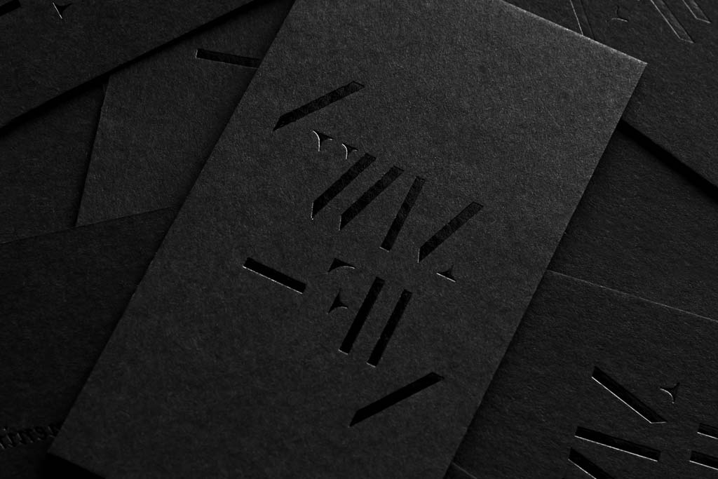 Matte Business Cards with spot UV