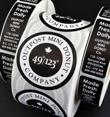 White Roll Labels